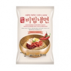 Hansung Korea Style Cold Noodle With Spicy Sauce 1.23lb