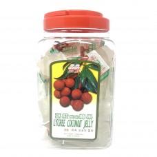 Jin Jin Lychee Coconut Jelly 1 Bucket 52.9oz.