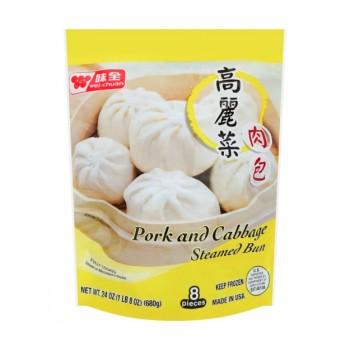 Wc Cabbage & Pork Bun 24oz