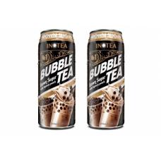 Inotea Bubble Tea Drinks Brown Sugar with Tapioca Pearls 490ml (2 can)