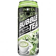 Inotea Bubble Tea Drinks Matcha Green Tea Latte with Tapioca Pearls 490ml