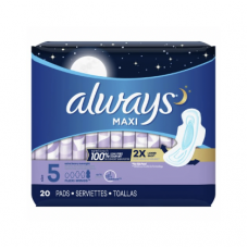 Always Extra Heavy Overnight Flexi-Wings 20 Pads