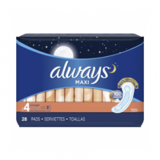 Always Overnight Without Wings 28 Pads