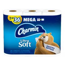 Charmin 9 Mega Bathroom Tissue