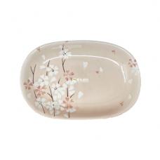 """11"""" Rectangular Dish-Pink Cherry Blossom"""