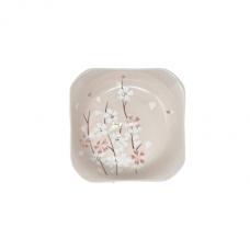 "8""Sakura Square Plate-Pink Cherry Blossom"