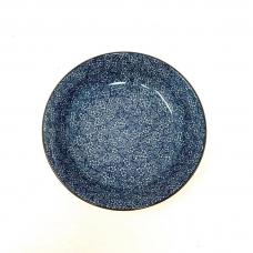 Ceramic blue grid plum blossom 8 inch disc