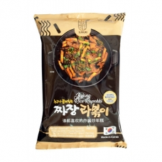 Sunuri Fried Rice Cake with Fried Sauce Black Package 340g