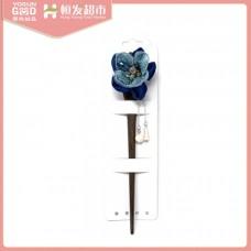 YoSung Chinese elegant hairpin dark blue cloth flower