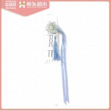 YoSun Good Chinese elegant hairpin light blue cloth flower